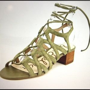 Sam Edelman Ardella Green Leather Gladiator 10.5